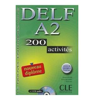DELF A2 200 ACTIVITES + CD + CORRIGES
