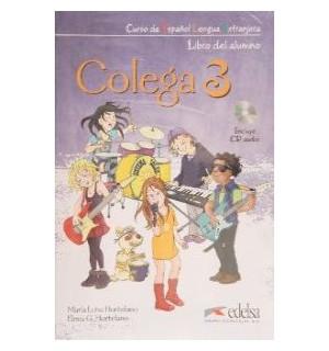 COLEGA 3 LIBRO DE CLASE + LIBRO EJERCICIOS + AUDIO CD