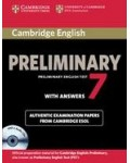 CAMBRIDGE ENGLISH PRELIMINARY 7 WITH ANSWERS (+CDS)