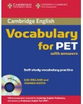 VOCABULARY FOR PET WITH ANSWERS