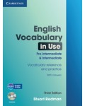 ENGLISH VOCABULARY IN USE PRE INTERMEDIATE & INTERMEDIATE THIRD EDITION + CD ROM