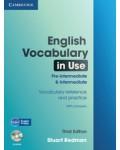 ENGLISH VOCABULARY IN USE PRE INTERMEDIATE & INTERMEDIATE THIRD EDITION + CD ROM