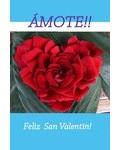 (Postal) ÁMOTE! FELIZ SAN VALENTÍN! (R-20160115)